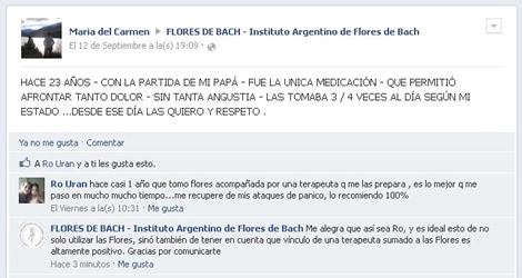 Comentarios sobre Flores de Bach