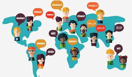 Imagen de diversidad de idiomas